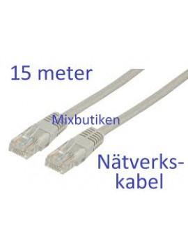 """Nätverkskabel """"rak"""" 15m"""