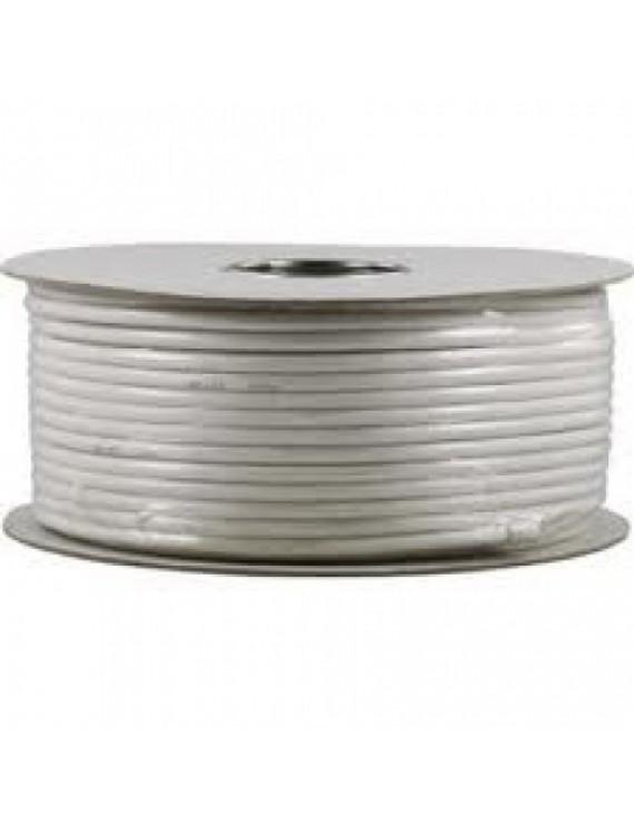 Koaxial kabel 1.0 RG6 100m 3Aluminium folie Vit Färg - Pappers trumma