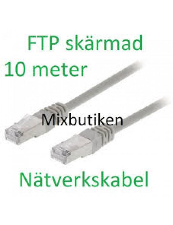 """Nätverkskabel """"rak"""" 10m"""