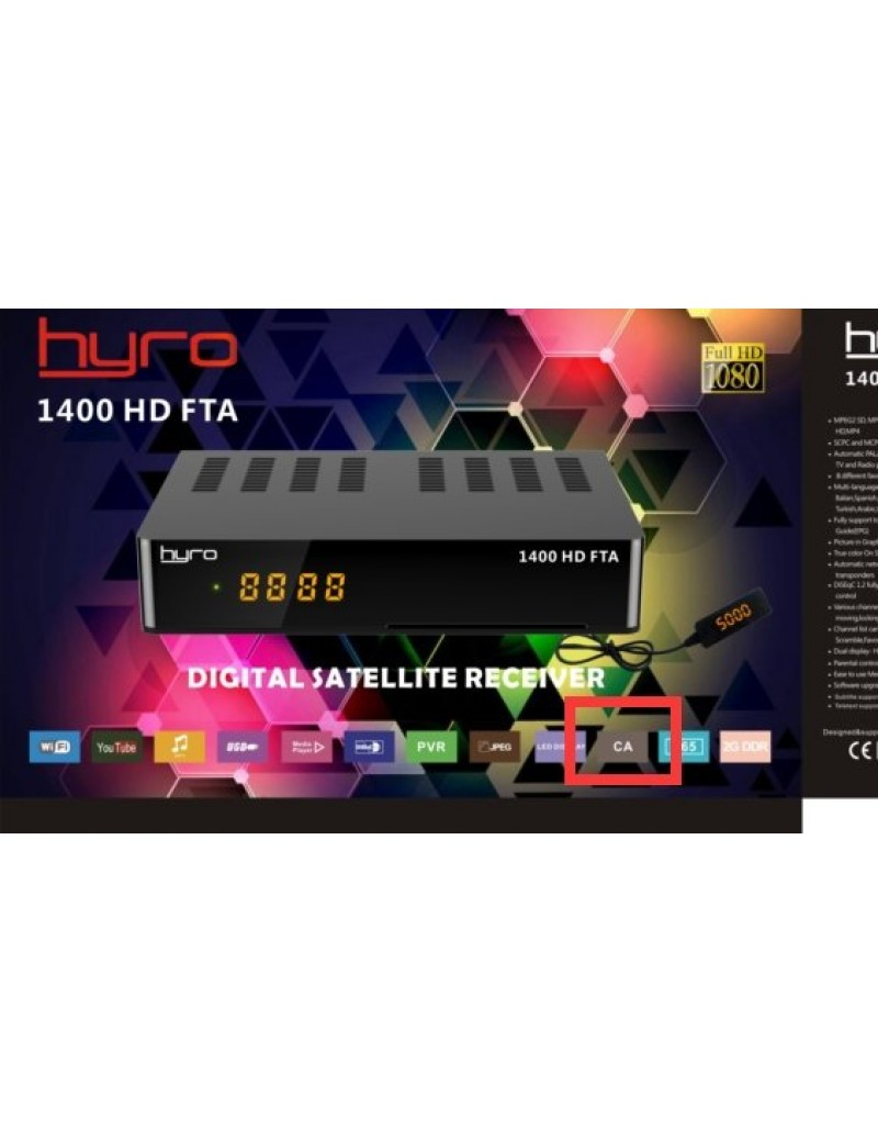 HYRO 1400 HD FTA