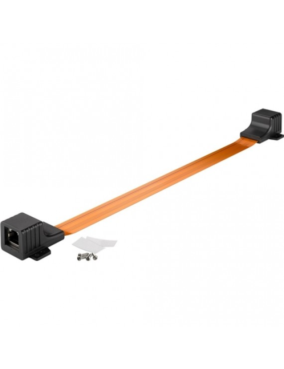 Ultra-slim RJ45 window feed-through