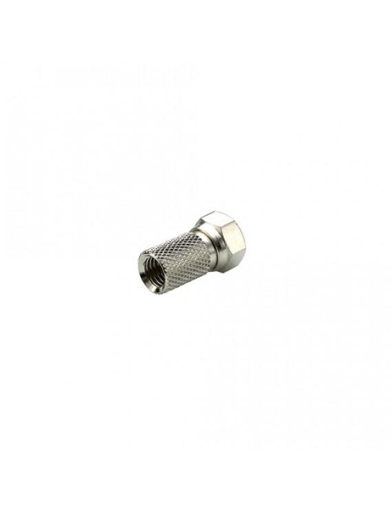 Triax F-kont. skruv f. 6,8mm kabel, 4,9/6,8mm