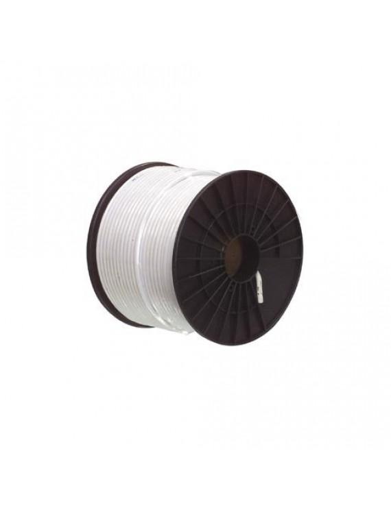 Kabel RG-59T (0,8/3,6) tr-skärmad, vit PVC,100m bobin
