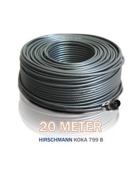 Kabelset med 20m svart kabel