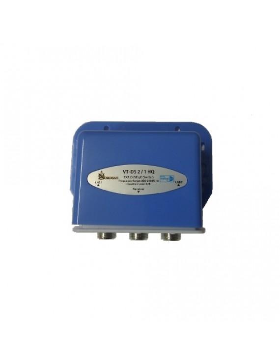 DiSEqC Switch - DiSEqC NordSat VT-DS 2 / 1 HQ, High ISO