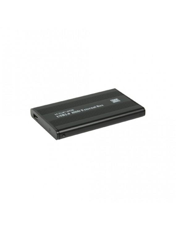 """2.5"""" S-ATA-kabinett med USB-utgång"""