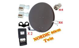 Nordic paket 80cm med twin LNB